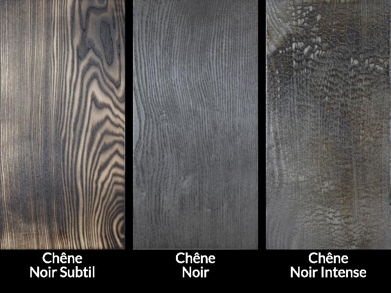 nuancier bois brulé chêne